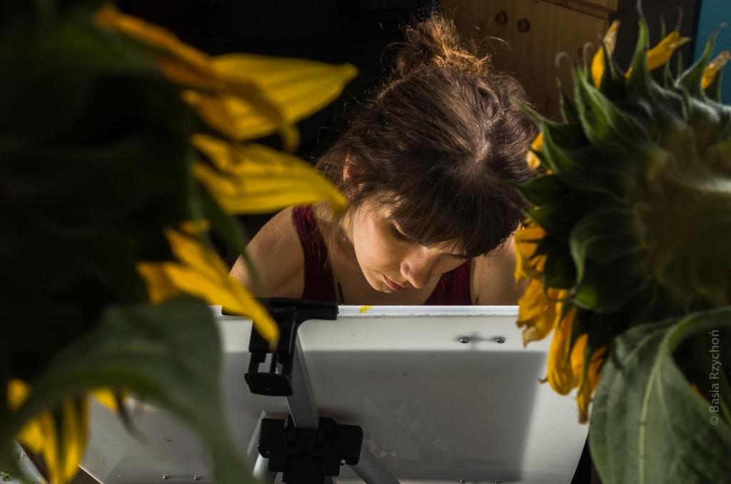 Malowanie słoneczników.