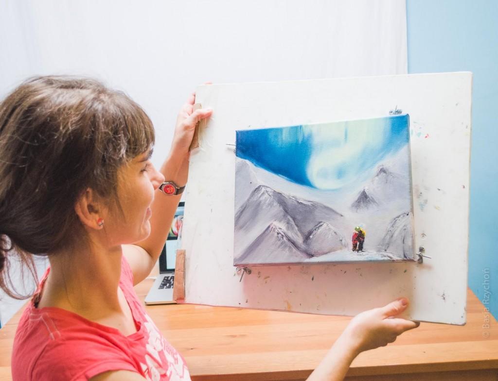 """Prezentuję mój obraz olejny """"Na Ganimedesie""""- świeżo malowany!"""