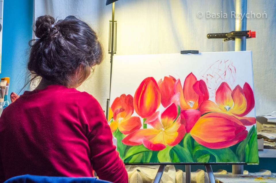 Mój najnowszy obraz z tulipanami w filmie promocyjnym.