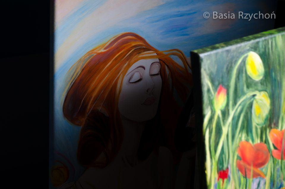 Obraz olejny, Wiosna Axentowicza, kopia.